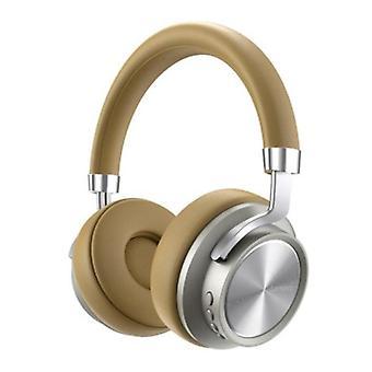 Lenovo HD800 Bluetooth Headphones with AUX Connection - Headset DJ Headphones Beige