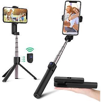 BlitzWolf Bluetooth Selfie Stick Stativ, 86,4cm Mini Erweiterbar Monopod Wireless Selfie-Stange Stab
