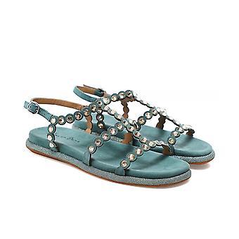 Alma en Pena Suede Rhinestone Sandals