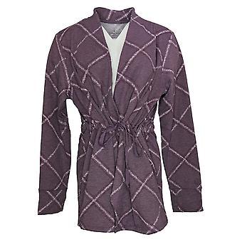 Cuddl Duds Dames's Sweater Comfortwear Cascade Front Wrap Violet A381692