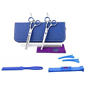 Haircut scissors straight snips thinning hairdressing barber tools lf24