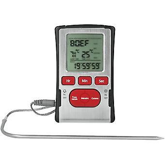 kochthermometer digital Edelstahl silber/rot