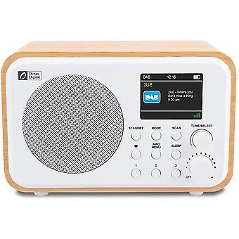 FengChun DK-336 Tragbares DAB + / DAB/FM-Radio mit integriertem Akku, 3 voreingestellten Tasten fr