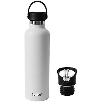 HanFei Trinkflasche mit Strohdeckel - Hydro Thermoskanne Thermosflashe Wasserflasche Flaschenbohnen