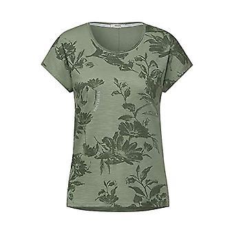 Cecil 316242 T-Shirt, Kaki Urban, S Donna