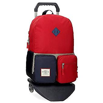 Pepe Jeans Dany Backpack with Red Trolley 32x44x17.5 cms Recycled Polyester 21.12L