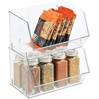 FengChun Aufbewahrungsbox für Lebensmittel Küchen Ablage mit offener Vorderseite für Kühlschrank,
