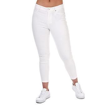 Vero Moda Hot Seven Push Up Ankle Jeans de Mujer en Blanco
