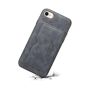 Slot per carte custodia in pelle portafoglio per huawei p30lite grigio scuro no3023