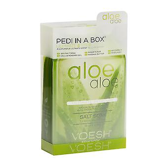 1x Voesh Aloe Aloe Ultimate 6 Step Deluxe Pedi In A Box with Aloe Extracts