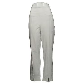Femmes avec contrôle Shapewear Contrôle du ventre Fente avant Pantalon Blanc A381521