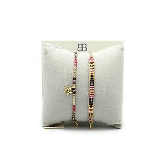 Boho betty tehran 2 layered bracelet stack