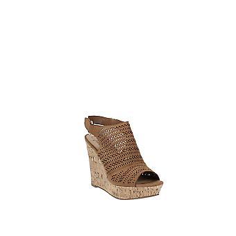 American Rag | Charlize Perforated Platform Wedge Sandals