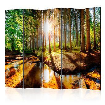 5-teiliges Paravent - Marvelous Forest II [Room Dividers]