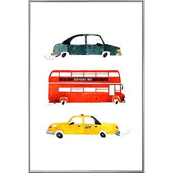 JUNIQE Print -  City Travel - Kinderzimmer & Kunst für Kinder Poster in Bunt