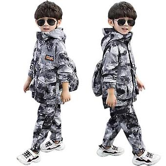 Two-piece Camouflage Trench Coat