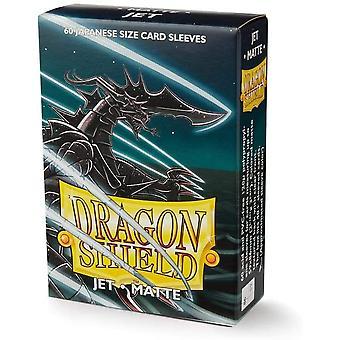 Dragon Shield Matte Jet Japoński rozmiar Rękawy karty - 60 rękawy