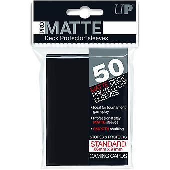 Ultra Pro Black Matte Standardní Chrániče paluby - 50 karet