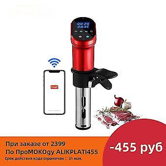 Eu plug red smart wifi control sous vide cooker 1200w immersion circulator vacuum heater fa0565