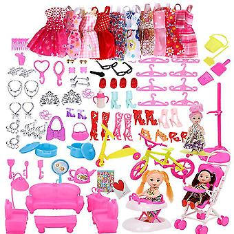 Doll Accessories, Dress Clothes For Barbie Doll(118pcs)