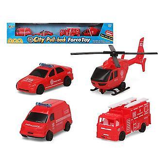 Vehicle Playset 119466 Fireman (4 Pcs)
