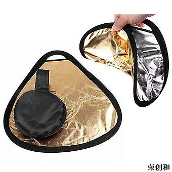 2 In 1 30cm Mini Handheld Reflector Portable Folding Photograph Reflector With Bag