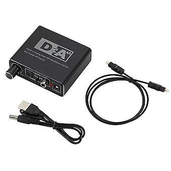 192kHz digitale naar analoge audio converter optische vezel toslink coaxiale signaal naar RCA R / L audio