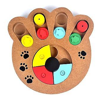 الأغذية الطبيعية تعامل خشبية مخلب شكل الكلب الاليف القط IQ التدريب اللعب التغذية التعليمية | لعب الكلب