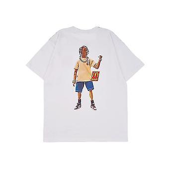 Karakter print achter korte mouwen volwassen humor grafische nieuwigheid sarcastische grappige T-shirt (L)