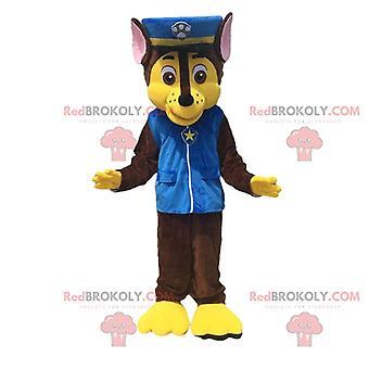 Mascote REDBROKOLY.COM cão policial de desenho animado Paw Patrol