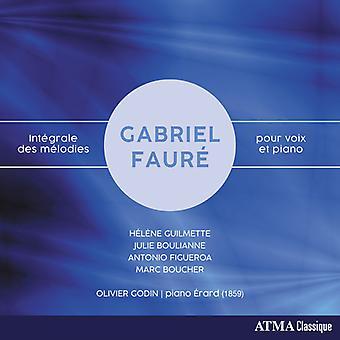 Faure / Guilmette / Godin - Integrale Des Melodies Pour Voix Et Piano [CD] USA import