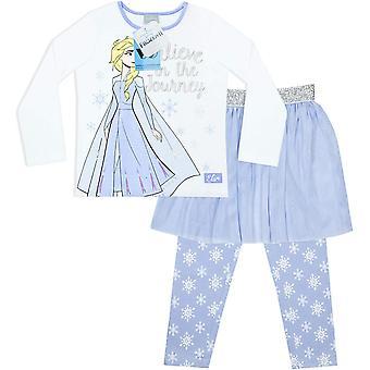 Chicas congeladas creen en el viaje el set de Elsa Pyjama