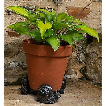 Potty Feet Decorative Snail Themed Plant Pot Feet - Bronze Color - Set of 3
