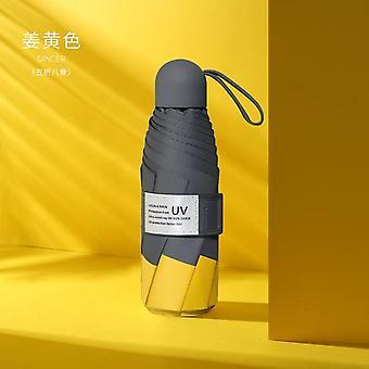 8 Ribs mini sateenvarjo tuulenpitävä anti-uv suoja 5folding sateenvarjo kannettava matka sade naiset sateenvarjo tasku lapset sateenvarjo