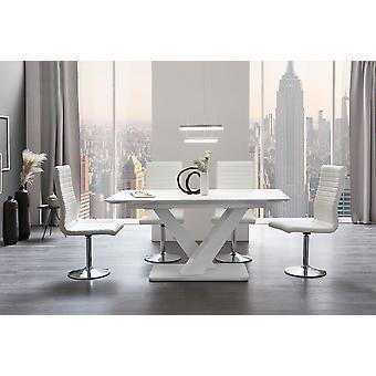 Tomasso's Legnano Dining Table - Modern - White - Mdf - 160 cm x 90 cm x 77 cm