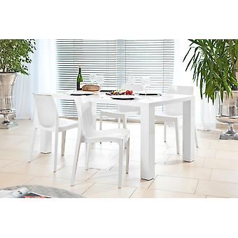 Tomasso's Viterbo Dining Table - Modern - White - Plastic - 0 cm x 0 cm x 0 cm