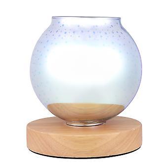 Desire Aroma 3d Glass Electric Lamp Firework Wax Melt Oil Burner Wood Base