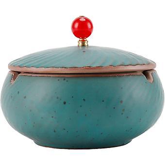 Keramikaschenbecher mit Deckel, luftdicht und desodorierender Aschenbecher