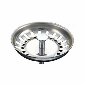 Accessoires d'évier de cuisine, couvercle de drain d'évier en acier inoxydable épaissi, bouchon d'évier, couvercle de drain de bouchon d'évier Diamètre 79.3mm =