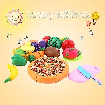 Venalisa 24 stuks / set vroege ontwikkeling kinderen doen alsof spelen cut fruit pizza voedsel speelgoed