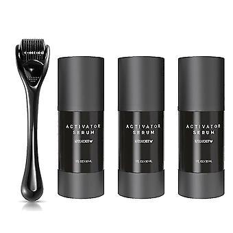 Huile de barbe / sérum Derma Roller Kit pour le visage, la barbe, la moustache et la croissance des cheveux