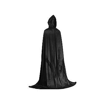 סיוניק קפוצ'ון גלימה יוניסקס גלימה עם הוד ליל כל הקדושים חג המולד גלימה ערפד מכשפה קייפ Cosplay תלבושות