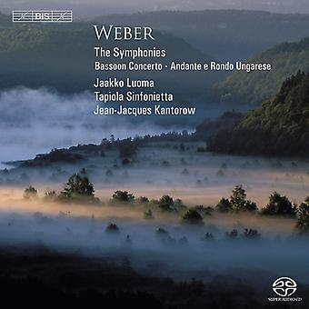 Luoma/Tapiola Sinfonietta - Weber: The Symphonies; Bassoon Concerto; Andante E Rondo Ungarese [SACD] USA import