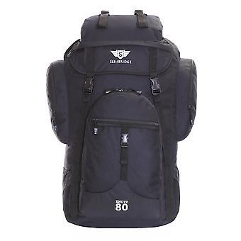 Sac à dos de randonnée Slimbridge Knott 80 litres XL, noir