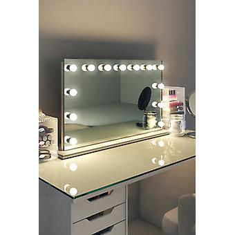 Diamond X Table Top Hollywood Makeup Mirror with Dimmable LED k91sWW