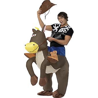 Kowboj i koń kostium strój kowbojski nadmuchiwane