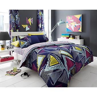 Pop trekant blomstermotiver moderne dynebetræk sengetøj Quilt sæt alle størrelser