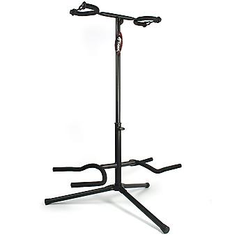 Tiger Double Guitar Stand - Secure Stand for 2 Guitars