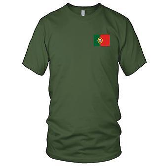 Portugal portugisisk land nasjonale flagg - brodert Logo - 100% bomull t-skjorte damer T skjorte