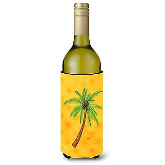 Palm Tree Yellow Polkadot Wine Bottle Beverge Insulator Hugger